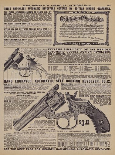 Page from Sears, Roebuck catalogue, 1906. From later reproduction.