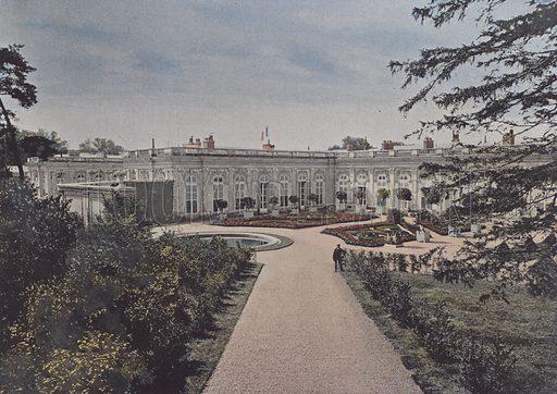 Le Grand Trianon Vue d'ensemble. Illustration for La France, Aquarelles Souvenirs de Voyages (Boulanger, c 1900).