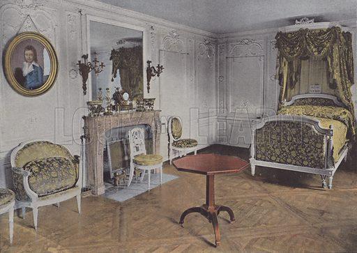 La Chambre de la Reine. Illustration for La France, Aquarelles Souvenirs de Voyages (Boulanger, c 1900).