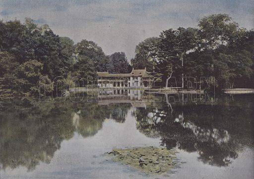 Le Petit Trianon, Vue du Hameau et du Lac. Illustration for La France, Aquarelles Souvenirs de Voyages (Boulanger, c 1900).