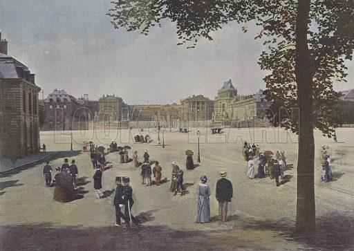 Versailles, Vue generale du chateau. Illustration for La France, Aquarelles Souvenirs de Voyages (Boulanger, c 1900).