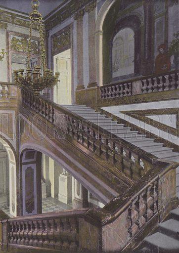 Escalier de la Reine, ou de marbre. Illustration for La France, Aquarelles Souvenirs de Voyages (Boulanger, c 1900).