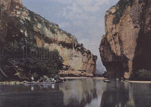 Detroit au fond de la Croze. Illustration for La France, Aquarelles Souvenirs de Voyages (Boulanger, c 1900).