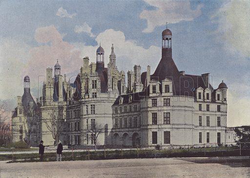 Chateau de Chambord. Illustration for La France, Aquarelles Souvenirs de Voyages (Boulanger, c 1900).