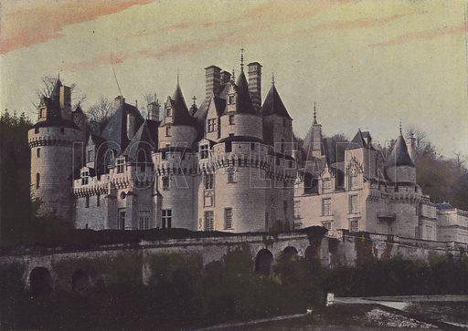 Chateau d'Usse. Illustration for La France, Aquarelles Souvenirs de Voyages (Boulanger, c 1900).