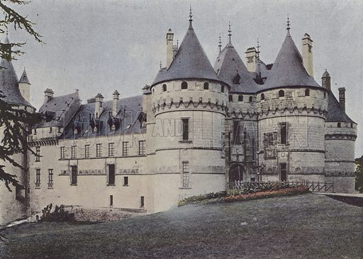 Chateau de Chaumont. Illustration for La France, Aquarelles Souvenirs de Voyages (Boulanger, c 1900).
