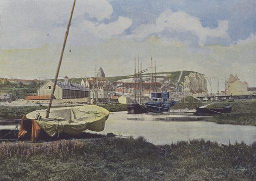 Le Treport. Illustration for La France, Aquarelles Souvenirs de Voyages (Boulanger, c 1900).