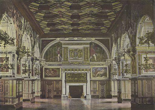 Salle Henri II. Illustration for La France, Aquarelles Souvenirs de Voyages (Boulanger, c 1900).