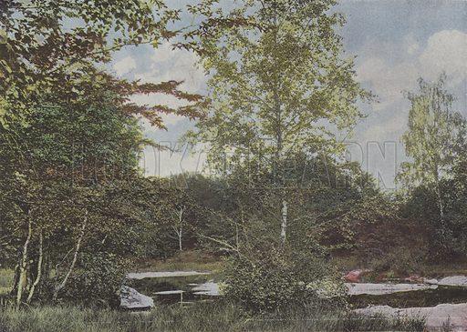 La mare aux Fees. Illustration for La France, Aquarelles Souvenirs de Voyages (Boulanger, c 1900).