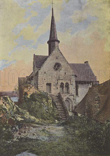 Notre-Dame de Behuard. Illustration for La France, Aquarelles Souvenirs de Voyages (Boulanger, c 1900).