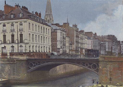 Nantes, l'Erdre. Illustration for La France, Aquarelles Souvenirs de Voyages (Boulanger, c 1900).