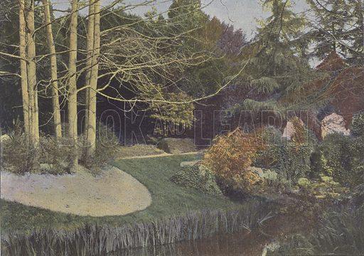 Nantes, Le Jardin des Plantes. Illustration for La France, Aquarelles Souvenirs de Voyages (Boulanger, c 1900).