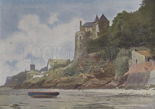 Pornic. Illustration for La France, Aquarelles Souvenirs de Voyages (Boulanger, c 1900).