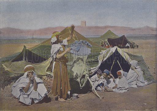 Sous la Tente. Illustration for La France, Aquarelles Souvenirs de Voyages (Boulanger, c 1900).