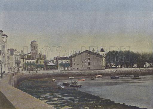 Saint-Jean de Luz. Illustration for La France, Aquarelles Souvenirs de Voyages (Boulanger, c 1900).