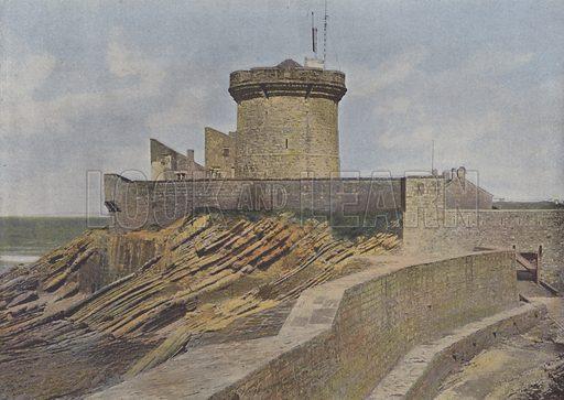 Saint-Jean de Luz, Tour du Socoa. Illustration for La France, Aquarelles Souvenirs de Voyages (Boulanger, c 1900).