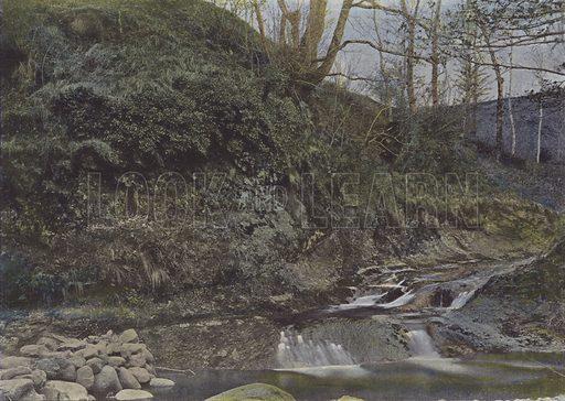 La Vallee de la Cere, pres Vic-sur-Cere. Illustration for La France, Aquarelles Souvenirs de Voyages (Boulanger, c 1900).