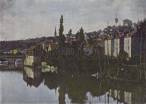 Argenton-sur-Creuse. Illustration for La France, Aquarelles Souvenirs de Voyages (Boulanger, c 1900).