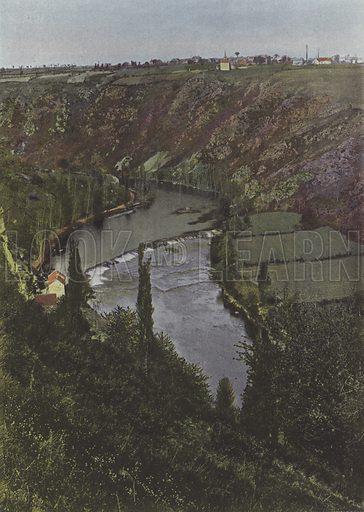 Le Pin pres Gargilesse. Illustration for La France, Aquarelles Souvenirs de Voyages (Boulanger, c 1900).