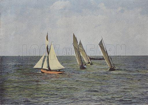 Marseille, Les Regates. Illustration for La France, Aquarelles Souvenirs de Voyages (Boulanger, c 1900).
