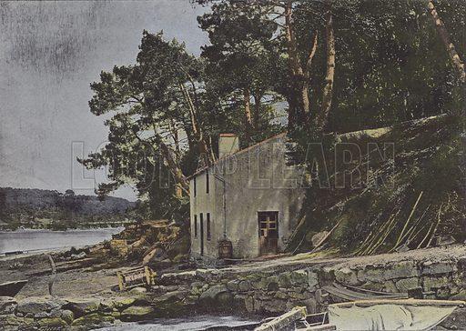 Le Loch, a Auray. Illustration for La France, Aquarelles Souvenirs de Voyages (Boulanger, c 1900).