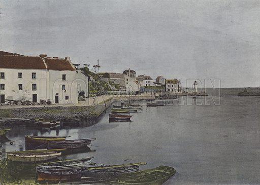 Port de Sauzon, a Belle-Ile. Illustration for La France, Aquarelles Souvenirs de Voyages (Boulanger, c 1900).