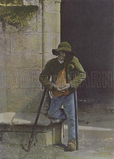 Mendiant breton. Illustration for La France, Aquarelles Souvenirs de Voyages (Boulanger, c 1900).