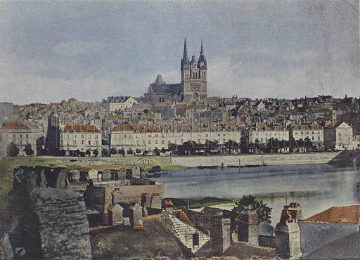 Angers, Vue Generale. Illustration for La France, Aquarelles Souvenirs de Voyages (Boulanger, c 1900).