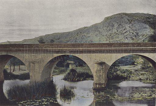 Beaulieu, Le Pont Barre. Illustration for La France, Aquarelles Souvenirs de Voyages (Boulanger, c 1900).