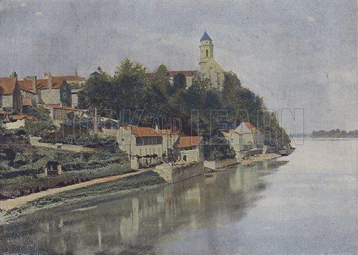 Saint-Florent-le-Vieil. Illustration for La France, Aquarelles Souvenirs de Voyages (Boulanger, c 1900).