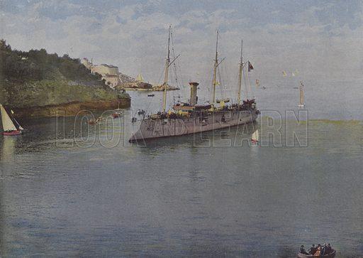 Un aviso. Illustration for La France, Aquarelles Souvenirs de Voyages (Boulanger, c 1900).