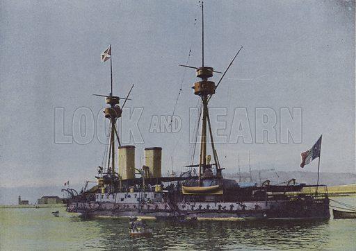 Un cuirasse. Illustration for La France, Aquarelles Souvenirs de Voyages (Boulanger, c 1900).