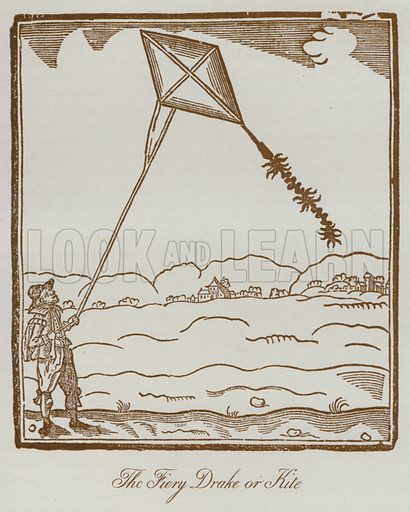 The Fiery Drake or Kite. Illustration for The Sports and Pastimes of the People of England by Joseph Strutt, 1801, a new edition, much enlarged and corrected by J Charles Cox (Methuen, c 1890). Contains fine reproductions of illustrations in original edition.