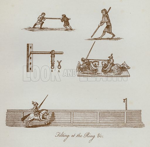 Jilting at the Ring etc. Illustration for The Sports and Pastimes of the People of England by Joseph Strutt, 1801, a new edition, much enlarged and corrected by J Charles Cox (Methuen, c 1890). Contains fine reproductions of illustrations in original edition.