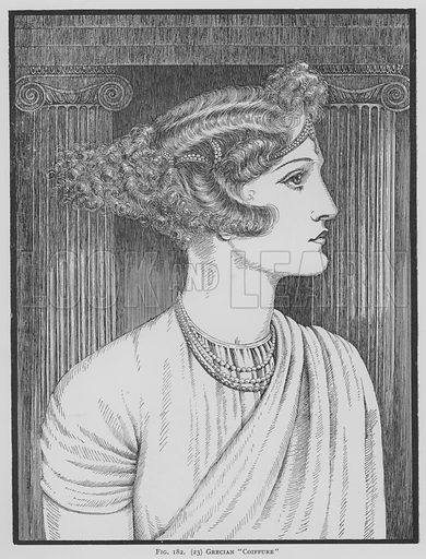 Grecian Coiffure. Illustration for The Art and Craft of Hairdressing edited by Gilbert A Foan (New Era, c 1935).