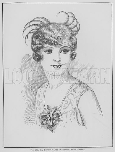 Softly waved Coiffure with torsade. Illustration for The Art and Craft of Hairdressing edited by Gilbert A Foan (New Era, c 1935).