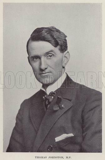 Thomas Johnston, MP Illustration for The Book of The Labour Party edited by Herbert Tracey (Caxton, c 1925).