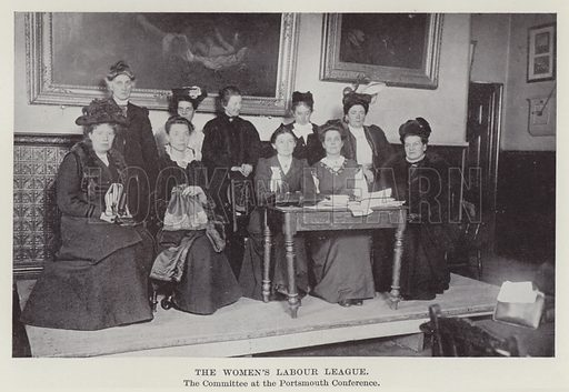 The Women's Labour League, the Committee at the Portsmouth Conference. Illustration for The Book of The Labour Party edited by Herbert Tracey (Caxton, c 1925).