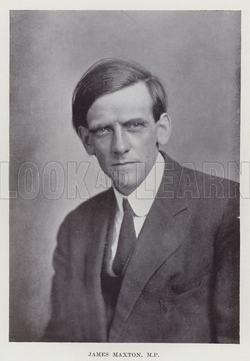James Maxton, MP Illustration for The Book of The Labour Party edited by Herbert Tracey (Caxton, c 1925).