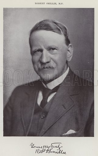 Robert Smillie, MP Illustration for The Book of The Labour Party edited by Herbert Tracey (Caxton, c 1925).