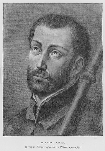 St Francis Xavier. Illustration for St Ignatius Loyola and the early Jesuits by Stewart Rose (Burns and Oates, 1891).