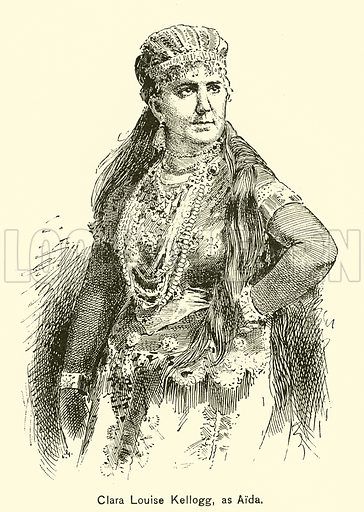 Clara Louise Kellogg, as Aida. Illustration for Cyclopedia of Music and Musicians edited by John Denison Champlin (Charles Scribner, 1889).