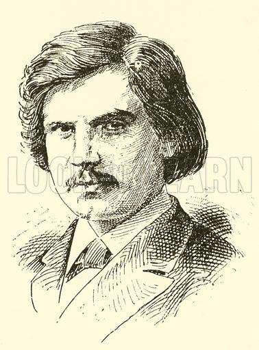 Eugen d'Albert. Illustration for Cyclopedia of Music and Musicians edited by John Denison Champlin (Charles Scribner, 1889).