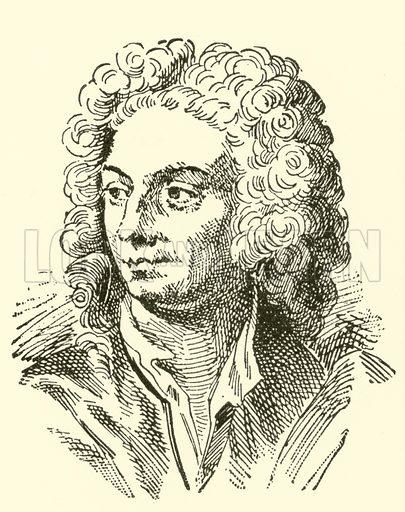 Attilio Ariosti, 1660-? Illustration for Cyclopedia of Music and Musicians edited by John Denison Champlin (Charles Scribner, 1889).