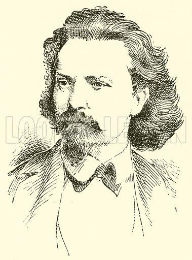 Franz Bendel, 1833–1874. Illustration for Cyclopedia of Music and Musicians edited by John Denison Champlin (Charles Scribner, 1889).