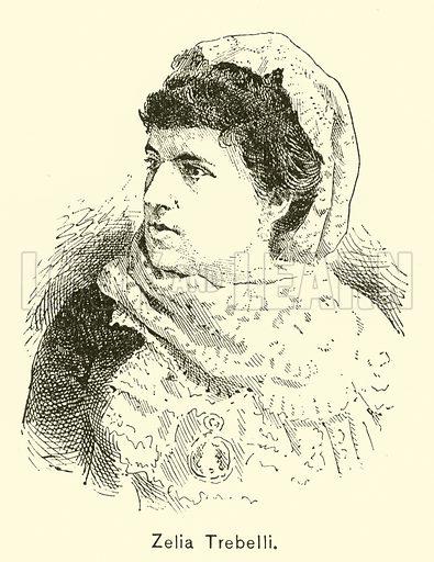 Zelia Trebelli. Illustration for Cyclopedia of Music and Musicians edited by John Denison Champlin (Charles Scribner, 1889).