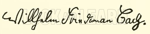 (Wilhelm) Friedemann Bach, called Halle Bach, 1710–1784, signature. Illustration for Cyclopedia of Music and Musicians edited by John Denison Champlin (Charles Scribner, 1889).