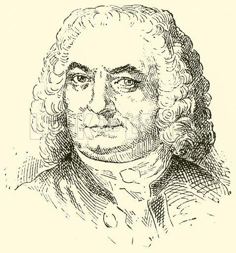 Johann Sebastian Bach, 1685–1750. Illustration for Cyclopedia of Music and Musicians edited by John Denison Champlin (Charles Scribner, 1889).