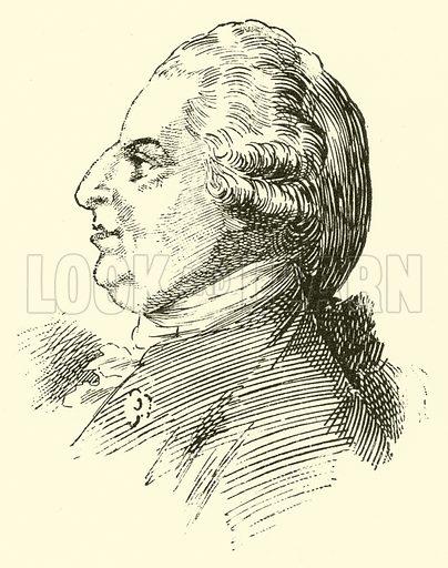 Johann Christian Bach. Illustration for Cyclopedia of Music and Musicians edited by John Denison Champlin (Charles Scribner, 1889).