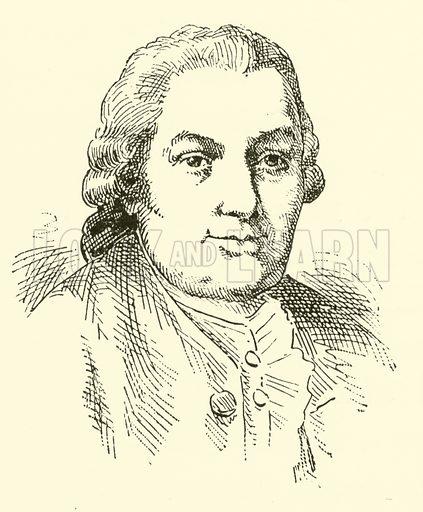 (Carl) Philipp Emanuel Back, 1714–1788. Illustration for Cyclopedia of Music and Musicians edited by John Denison Champlin (Charles Scribner, 1889).